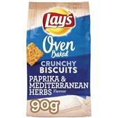 Lay's Oven Chips Crunchy biscuits paprika & mediterranen herbs