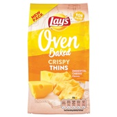 Lay's Oven Chips Crunchy Thins Emmental Cheese voorkant