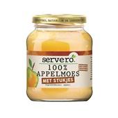 Servero 100% appelmoes met stukjes natuurlijk de lekkerste