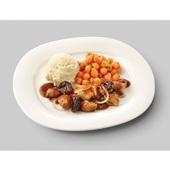 Culivers (100) kip op Brabantse wijze met Parijse worteltjes en aardappelpuree zoutarm