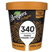 Breyers salted caramel proteïne ijs voorkant