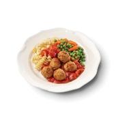 Culivers (13) kalfsgehaktballetjes in paprikasaus met doperwtjes, worteltjes en fusilli