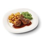 Culivers (28) drumsticks in kippenjus met sperziebonen en gebakken aardappeltjes