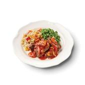 Culivers (86) Hongaarse goulash met doperwten en zilvervliesrijst-groenteschotel voorkant