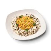 Culivers (69) rode linzencurry met wilde rijst