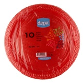 Depa Tafelen Plastic Borden Rood