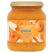 Gwoon appel-abrikozen compote voorkant