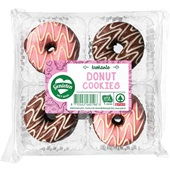 Spar donut cookies aardbei chocolade voorkant