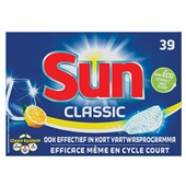 Sun classic vaatwastabletten citroen voorkant