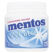 Mentos Kauwgom Gum White Sweet Mint, Pot 70 Gums