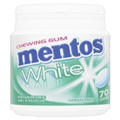 Mentos Bottle Kauwgom Gum White Green Mint, Pot 70 Gums