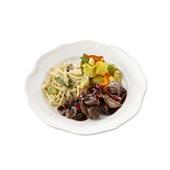 Culivers (85) beef teriyaki, pikante groenten met ananas en bami goreng zoutarm