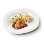 Culivers (93) kipfilet met kippenjus, gestoofde witlof naturel en aardappelpuree met tuinkruiden zoutarm