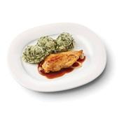 Culivers (32) kipfilet in uienjus met andijviestamppot