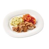Culivers (29) kalkoenreepjes in paddenstoelensaus, Toscaanse groentemix en aardappelschijfjes met peterselie