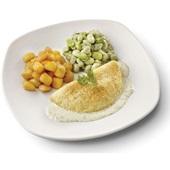 Culivers (72) omelet in dragonsaus, tuinbonen met ui en tijm en gebakken krieltjes