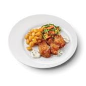 Culivers (53) kibbeling met ravigottesaus, Mexicaanse groenten en gebakken krieltjes
