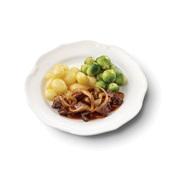 Culivers (3) Limburgse stoofschotel, spruitjes en gekookte krieltjes gluten- en lactosevrij