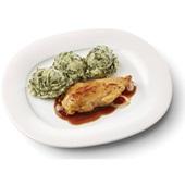 Culivers (10) kipfilet in uienjus met andijviestamppot gluten- en lactosevrij