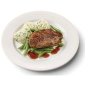 Culivers (11) varkenslapje met jus, sperziebonen en aardappelpuree met tuinkruiden gluten- en lactosevrij