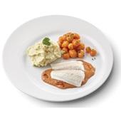Culivers (16) pangafilet in provencaalse saus, parijse worteltjes en aardappelpuree gluten- en lactosevrij
