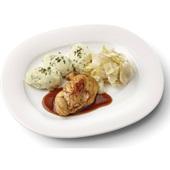 Culivers (6) kipfilet met kippenjus, gestoofde witlof naturel en aardappelpuree met tuinkruiden gluten- en lactosevrij