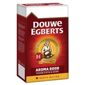 Douwe Egberts grove maling filterkoffie aroma rood achterkant