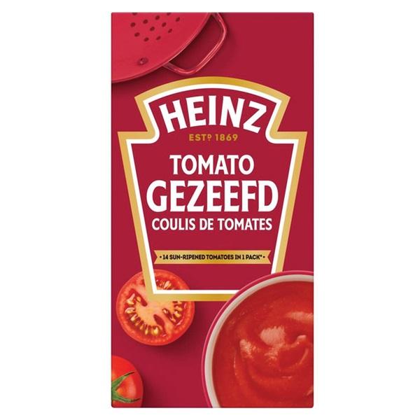 Heinz Gezeefde Tomaten voorkant