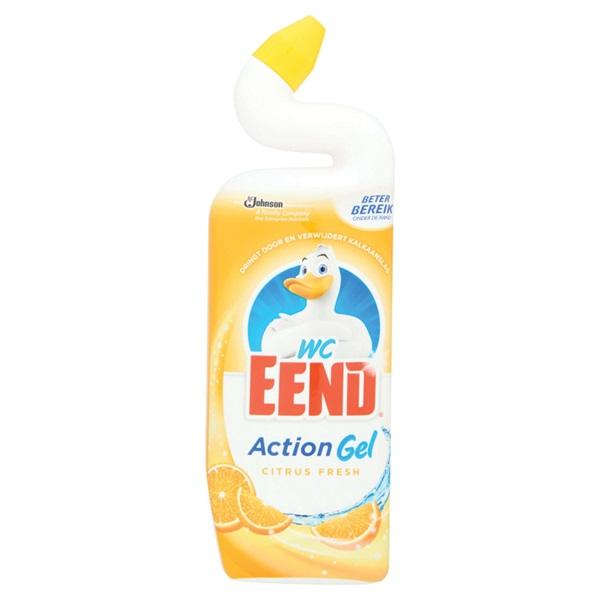 Wc-Eend action gel citrus fresh  voorkant