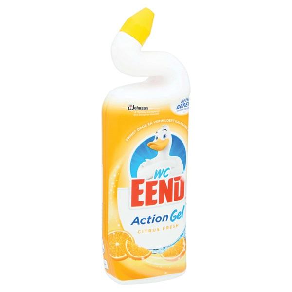 Wc-Eend action gel citrus fresh  achterkant