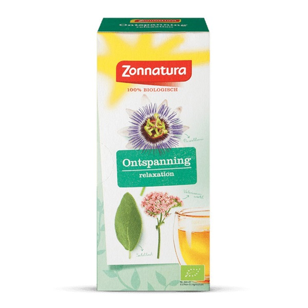 Zonnatura Thee Ontspanning voorkant