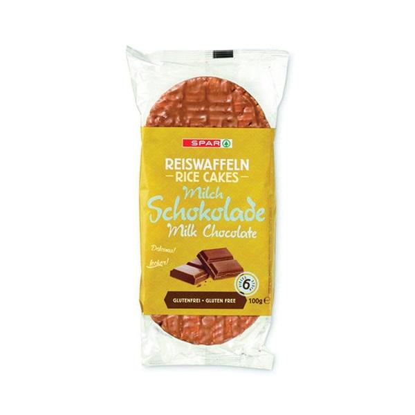 Spar Rijstwafels Chocolade voorkant