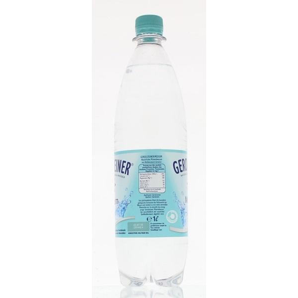 Gerolsteiner Mineraalwater Medium achterkant