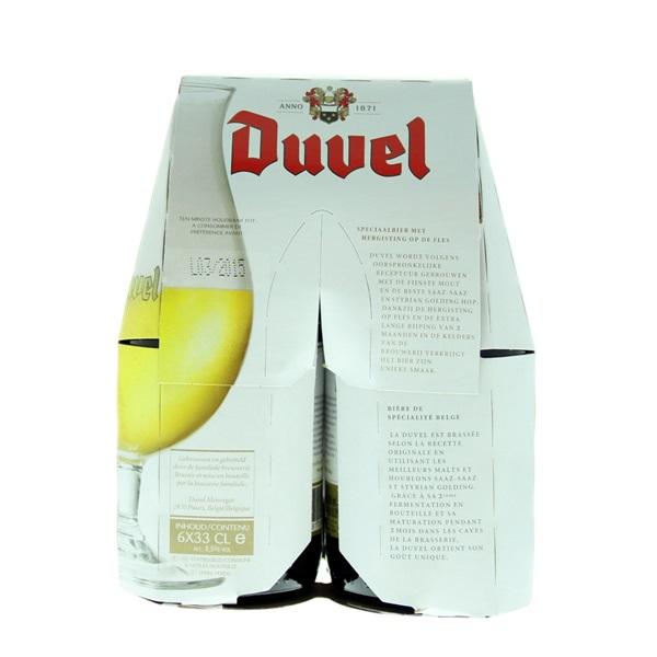 Duvel Belgisch Bier achterkant