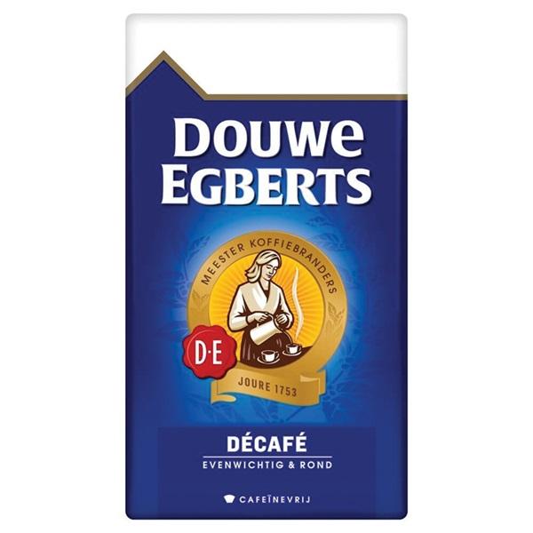 Douwe Egberts Décafé filterkoffie aroma rood cafeïnevrij voorkant