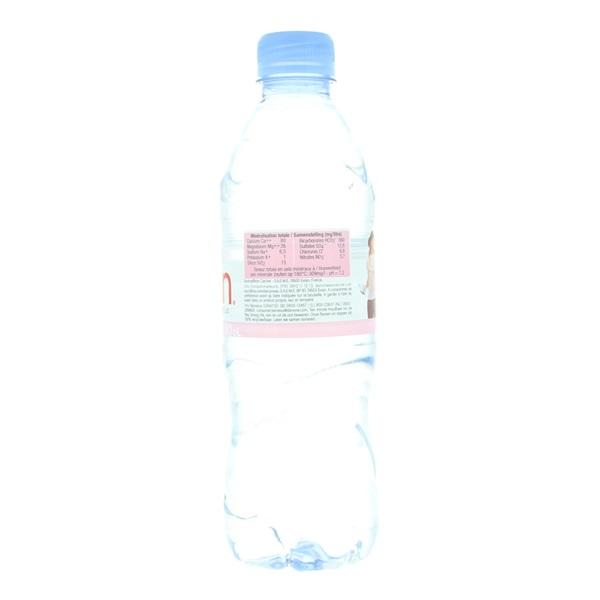 Evian Water achterkant