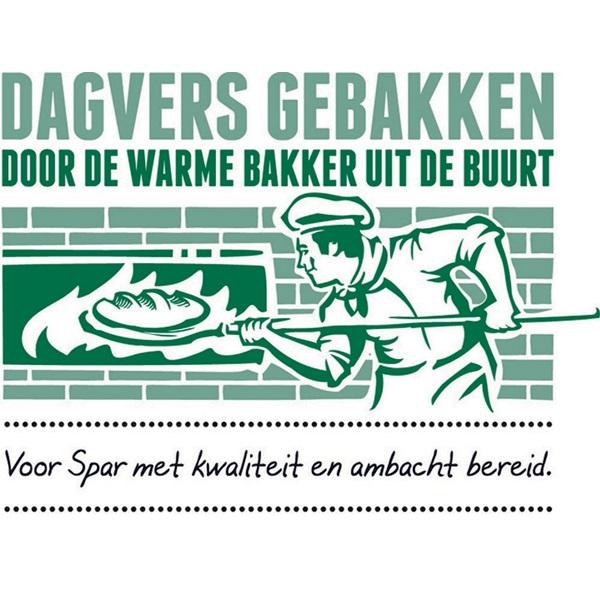 Ambachtelijke Bakker Wit Vloerbrood Tijger Half achterkant