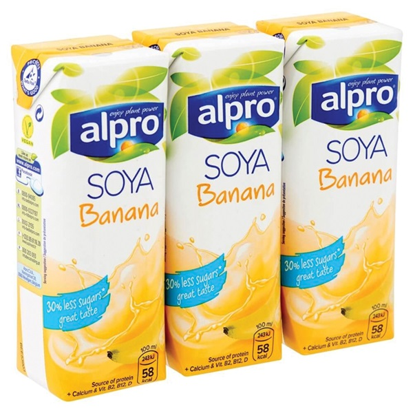 Alpro Soya Drink Banaan  Mini achterkant