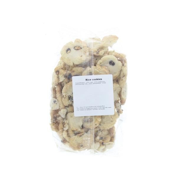 Spar rice cookies achterkant