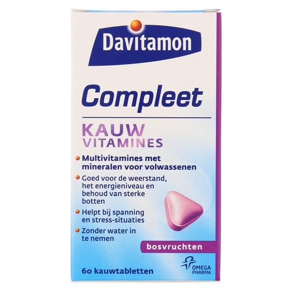 Davitamon Vitaminen En Mineralen Compleet Bosvruchten voorkant