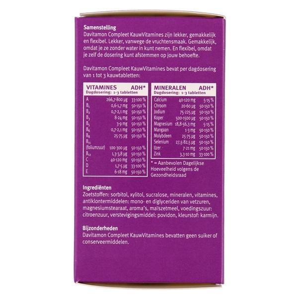 Davitamon Vitaminen En Mineralen Compleet Bosvruchten achterkant