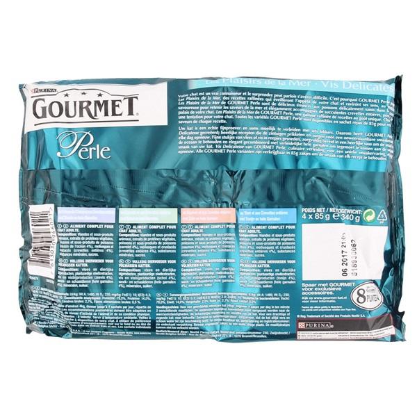 Gourmet Perle Kattenvoer Vis Delicatesse achterkant