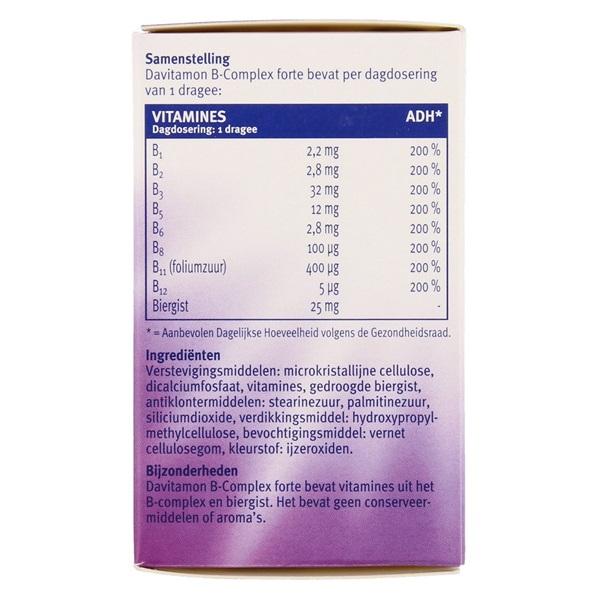Davitamon Vitaminen En Mineralen B Complex Forte achterkant