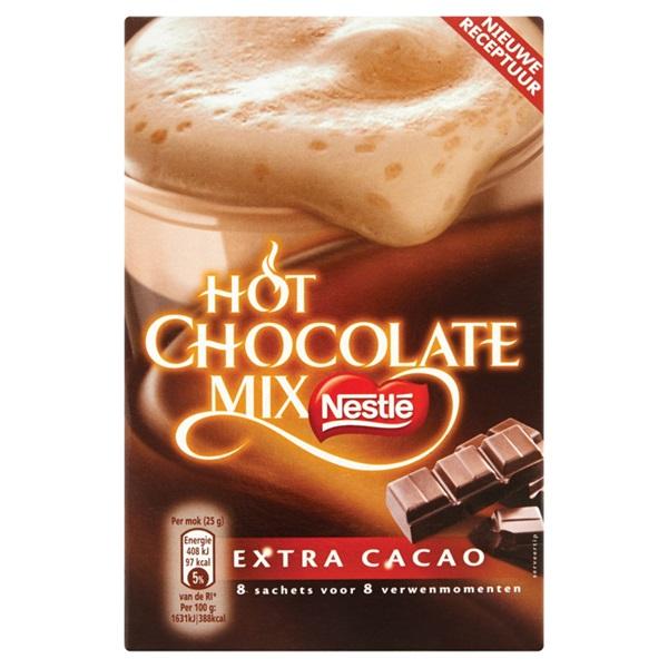 Nestlé Chocolademelk Hot Chocolate Mix Extra Cacao voorkant