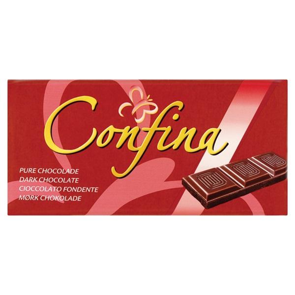Confina Chocolade Tablet Puur voorkant