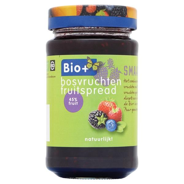 Bio+ Jam Bosvruchten voorkant