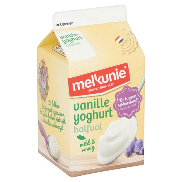Melkunie Halfvolle Yoghurt Vanille achterkant