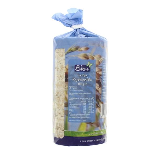 Bio+ Rijstwafels achterkant