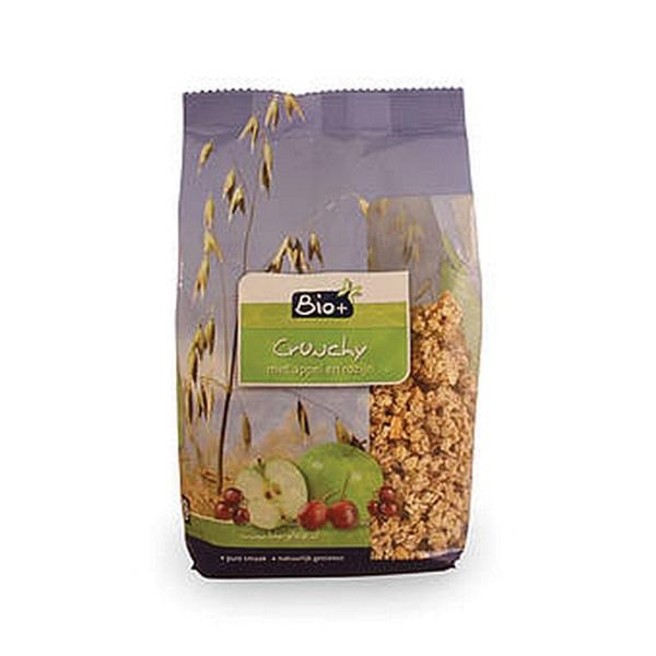 Bio+ Crunchy Muesli Appel en Rozijnen voorkant