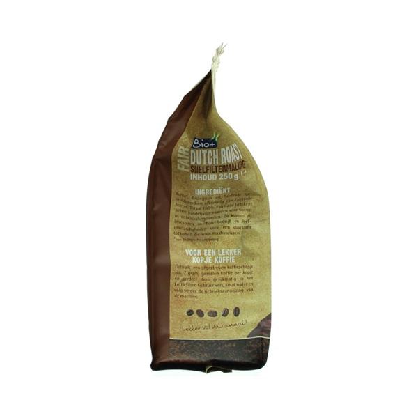 Bio+ Koffie Dutch Roast Snelfilter achterkant